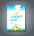 summer nice day vector image vector image