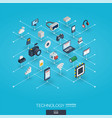 technology integrated 3d web icons digital vector image vector image