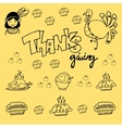 Thanksgiving element doodle vector image vector image
