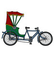the classic tricycle rickshaw vector image