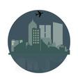 view modern night city brightening light vector image