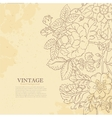 Vintage grunge flower backgriund vector image