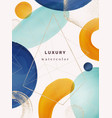 watercolor geometric shapes on poster cover design vector image vector image