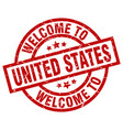 welcome to united states red stamp vector image vector image