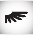 wing icon on white background for graphic and web vector image vector image