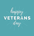 with happy veterans day vector image