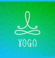 yoga workshop logo design template vector image