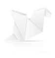 origami paper dragon vector image