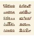 Shelves with medical icons for your design vector image