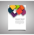 Modern simple business flyer vector image