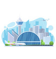 airport exterior flat vector image vector image