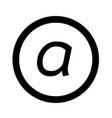 basic font letter a icon design vector image vector image