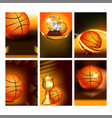 basketball sport event flyer posters set vector image vector image