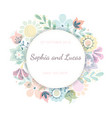 Beautiful greeting card with floral wreath