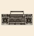 big retro cassette stereo recorder concept vector image