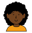 Black beautiful woman avatar character vector image