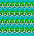blue and green cubes pattern seamless background vector image vector image