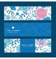 blue and pink kimono blossoms horizontal vector image vector image