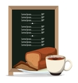 breakfast board menu restaurant food vector image