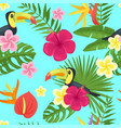 cartoon style summer seamless pattern vector image