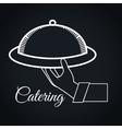 catering delicious food icon vector image vector image