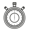 chronometer isolated icon design vector image vector image