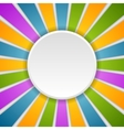 Circle and rays Rainbow colors vector image