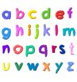 colorful hand drawn small letters vector image vector image
