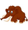 Cute mammoth cartoon vector image
