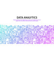 data analytics concept vector image vector image