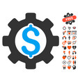 development cost icon with lovely bonus vector image vector image