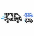 express manure delivery mosaic icon circles vector image vector image