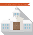 Flat design modern of chapel or wedding church vector image vector image