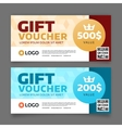 Gift voucher template graphic design vector image vector image