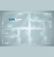 glass frame realistic glossy transparent glass vector image vector image