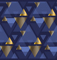 gold and blue elegant geometric seamless pattern vector image
