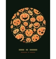 Halloween pumpkins circle decor pattern background vector image vector image