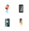 icon flat touchscreen set of interactive display vector image