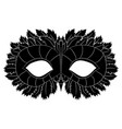 image of a black mask with patterns festive vector image vector image