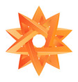 impossible star 3d for your project icon or logo vector image vector image