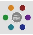 Infographic in the form of circle process diagram vector image vector image