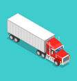 isometric flat concept a cargo truck vector image