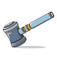 judge gavel icon cartoon style vector image vector image