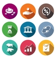 Loan Icons Set vector image vector image