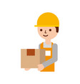 logistic company courier delivery man character vector image vector image