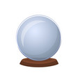 magic ball isolated icon vector image vector image
