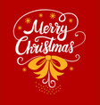merry christmas lettering designs white and vector image