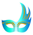 mystical mask icon realistic style vector image