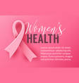 pink background with ribbon symbol october breast vector image vector image