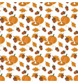 pumpkin pie pattern vector image